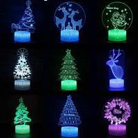 Decoração do Quarto das crianças 3d Nightlight Lâmpada Interruptor de Toque de Controle Remoto Presente de Aniversário 3d luzes decorativas de Natal