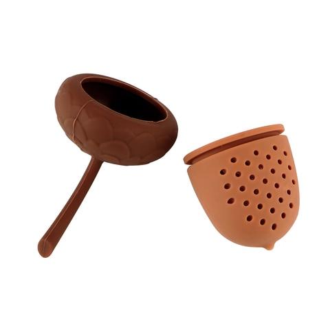 Kitchen Accessories Silicone Tea Infuser Tea Bag Strainer Herbal Filter Gadgets Acorn Shape Karachi