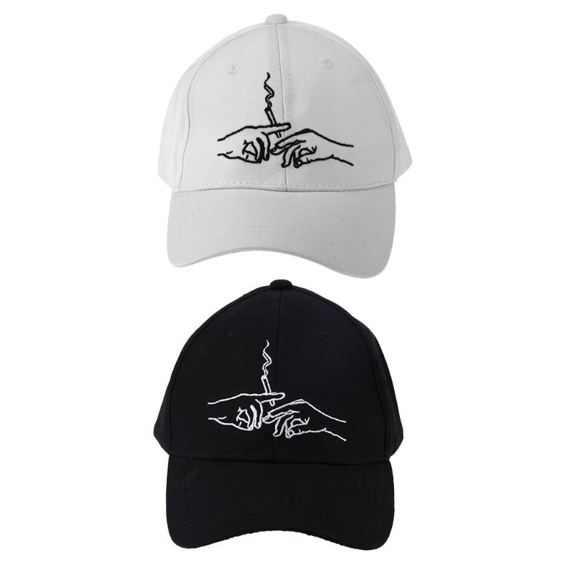 Unisex Second Hands Smoke Embroidery   Baseball     Cap   Adjustable Hiphop Hats