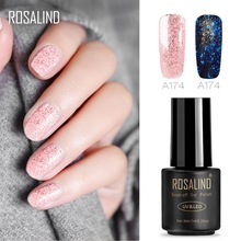 ROSALIND 7ML Star&Moon glitter  UV LED Soak-Off Gel Nail Polish Manicure Lacquer