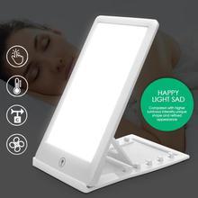 Triste terapia luz 3 modos de transtorno afetivo sazonal fototerapia 6500 k simulando luz do dia natural lâmpada terapia triste ue