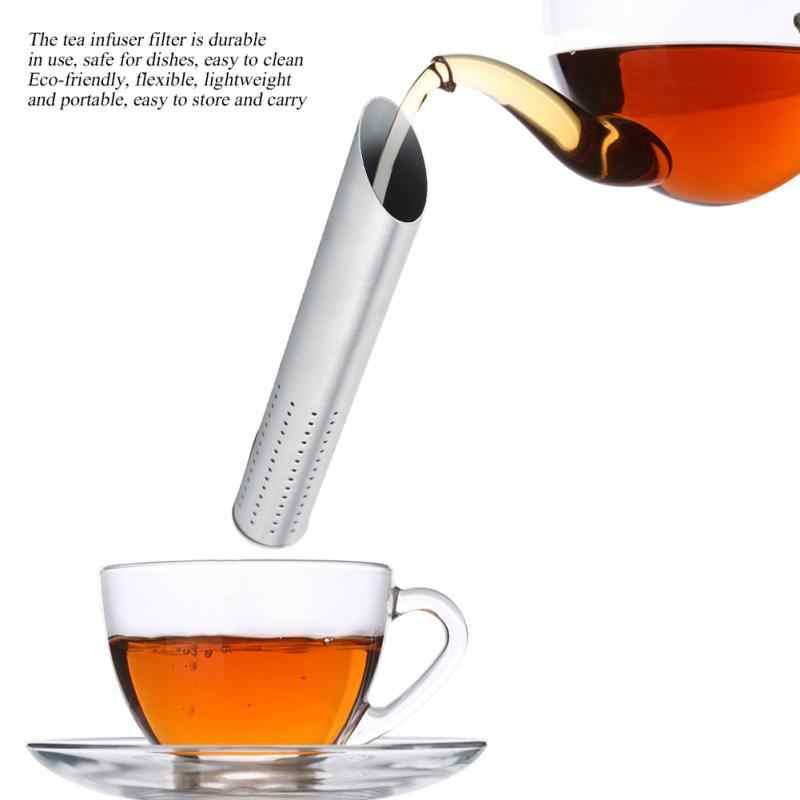 304 נירוסטה תה Infuser Creative צינור עיצוב מתכת תה מסננת עבור ספל מפואר מסנן עבור Puer תה עשב תה אבזרים