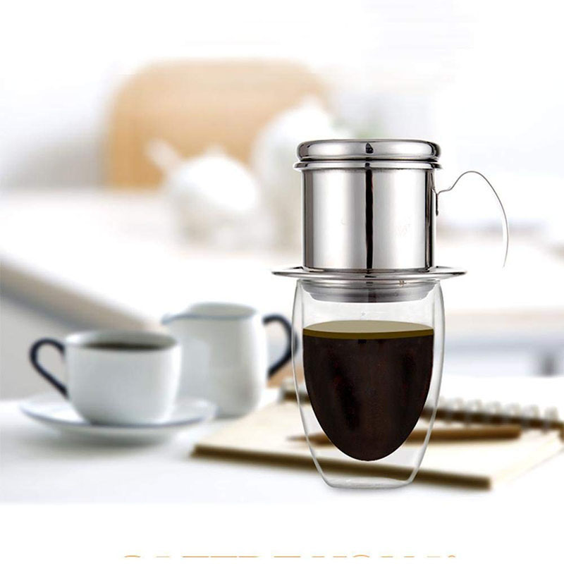The <font><b>Portable</b></font> <font><b>Stainless</b></font> <font><b>Steel</b></font> <font><b>Vietnam</b></font> <font><b>Coffee</b></font> <font><b>Dripper</b></font> Filter <font><b>Coffee</b></font> Maker Drip <font><b>Coffee</b></font> Filter Pot Filters Tools image