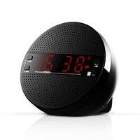 Cyfrowe nocne budzenie drzemka przycisk z tworzywa sztucznego bezprzewodowy głośnik Bluetooth radiobudzik karta subwoofera zestaw słuchawkowy na usb w Budziki od Dom i ogród na