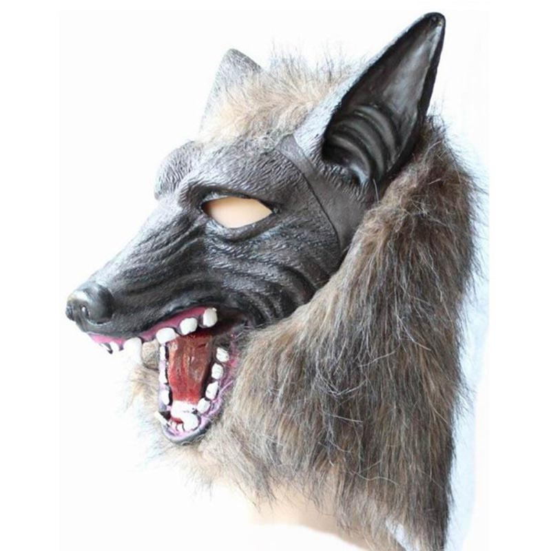 Halloween mask scary animal masquerade costume party prop grimace Wolf head full face