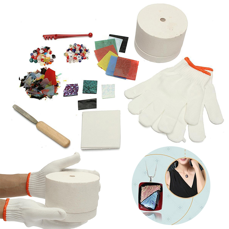 10pcs/set Professional Microwave Kiln Tool Set Stained Glass Fusing Supplies DIY Kit