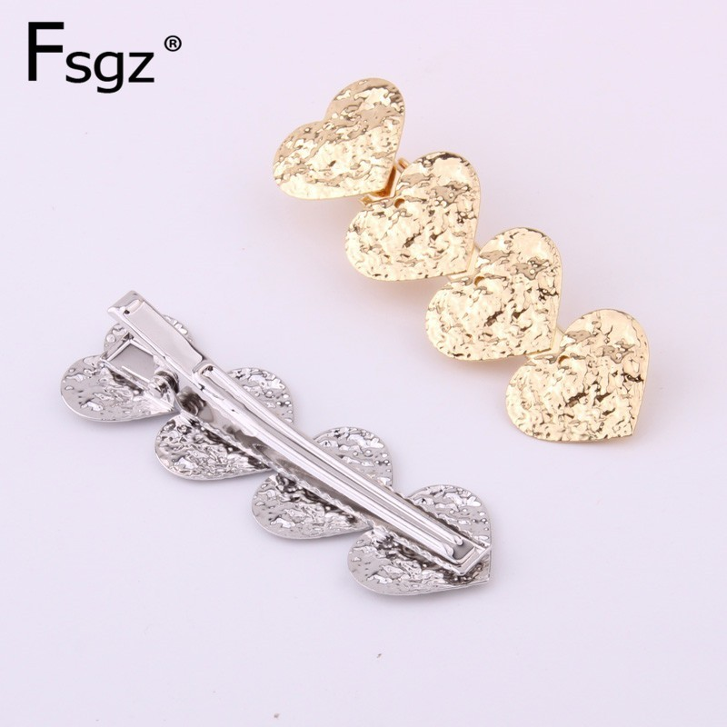 Vintage Gold Fringe Hairpin For Women Luxury Silver Plating Sweet Love Type Hair Barrettes Korean Style Accessories 6 CM