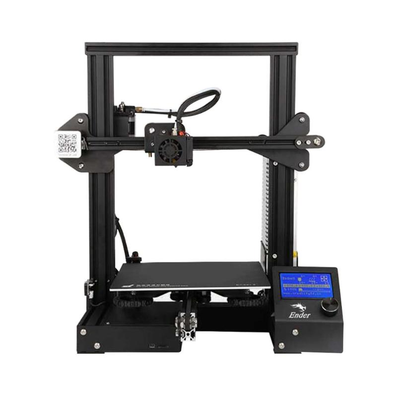Créalité 3D Ender 3 3D Imprimante DIY Kit V-fente Grande Taille I3 Mini Imprimante 3D Poursuite D'alimentation D'impression 110C Ajouter Verre pour Foyer