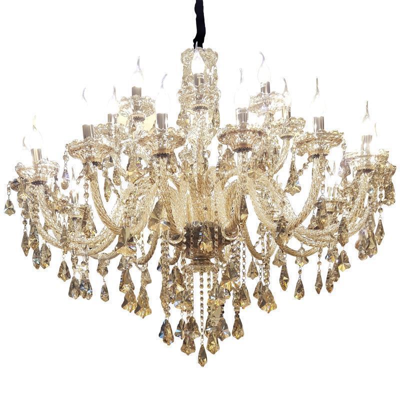 Europeo Touw Lampada Lustre E Pendente Para Sala De Jantar Cristallo Loft Sospensione Apparecchio Luminaria Deco Maison Luce Del Pendente