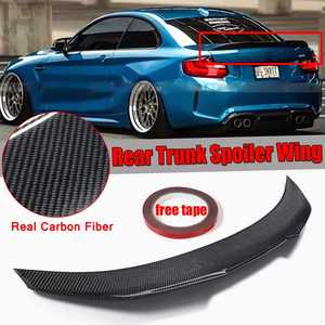 PSM Style For BMW F22 Real Carbon Fiber Car Trunk Spoiler Wing For BMW F22 M235i F87 M2 2014-2018 Car Rear Lip Wing Spoiler(China)