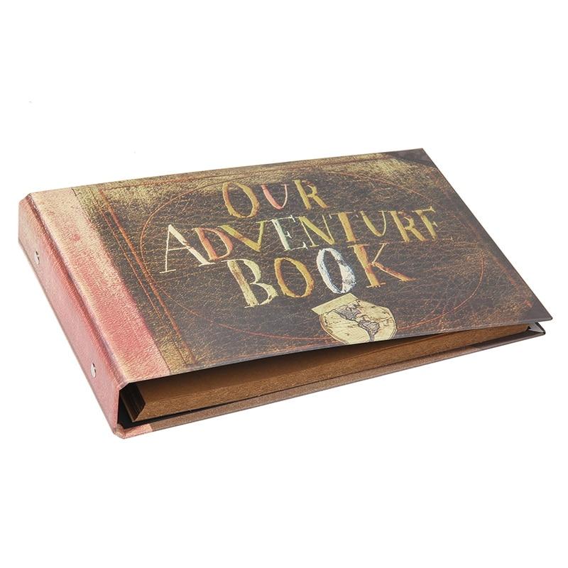 Album De Fotos Retro 40 Paginas Hojas De Papel Kraft Tarjeta Nuestro Album De Libro De Aventura