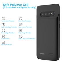Pour Samsung Galaxy S10 S10 E S10 Plus Chargeur de Batterie 4700 mAh Externe chargeur portatif batterie étui pour Samsung S10 Plus Couverture