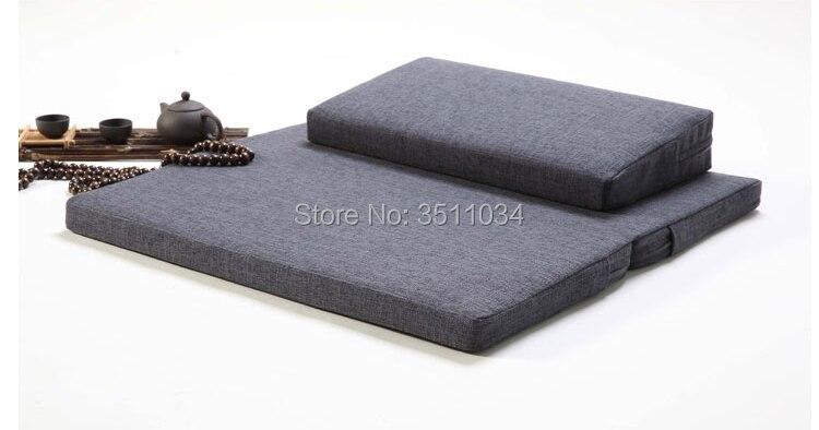60/70/80 épaissir coussin de méditation Zen bouddhisme chinois futon chinois Zen bouddhisme Zafu et Zabuton coussin de méditation pliable