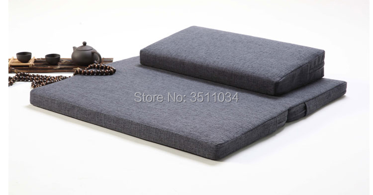 60/70/80 Thicken Meditation Pillow Zen Buddhism Chinese futon Chinese Zen Buddhism Zafu and Zabuton Foldable Meditation Cushion