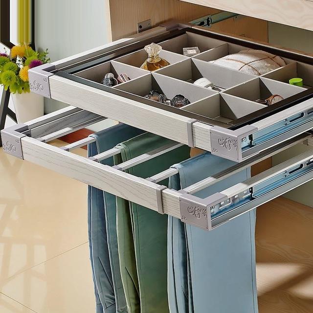 Ajustable Organizador Armario Adjustable Partition Closet Shelves Home Prateleira Estante Wardrobe Organizer Shelf Basket
