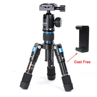Camera Travel Professional Photography Smartphone Fishing Tripod ball head Mini Tripod Holder for Phone Camera