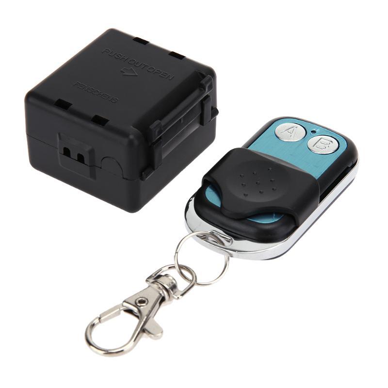 12 voltios equipaje abierto RECEPTOR + DC 12 v de Wireles dos interruptor de Control remoto controlador de transmisor