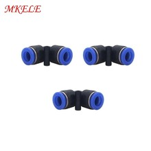 L Type Plastic Connectors 4/6/8/10/12/14/16mm PV Series Pneumatic Parts High Quality 1pcs Free Shipping