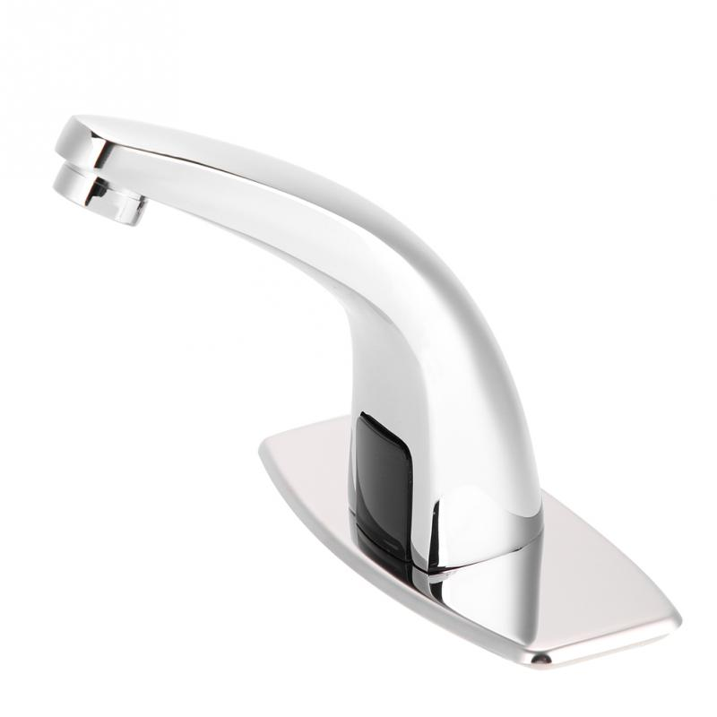 Electronic Automatic Sensor Touchless Sink Hands Free Hot Cold Faucet Motion Activated
