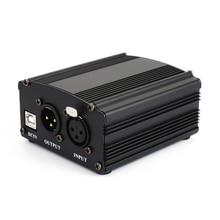 48 5vのusbファントム電源usbケーブルマイクケーブルマイクコンデンサー記録装置 ブラック