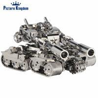 Picture Kingdom 3D Metal Puzzle Apocalypse Tank Building Model DIY 3D Metal Puzzle Kits Jigsaw Toys
