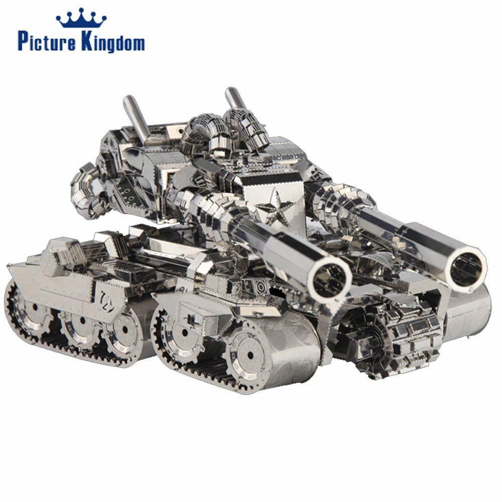 Image royaume 3D métal Puzzle Apocalypse réservoir bâtiment modèle bricolage 3D métal Puzzle Kits jouets
