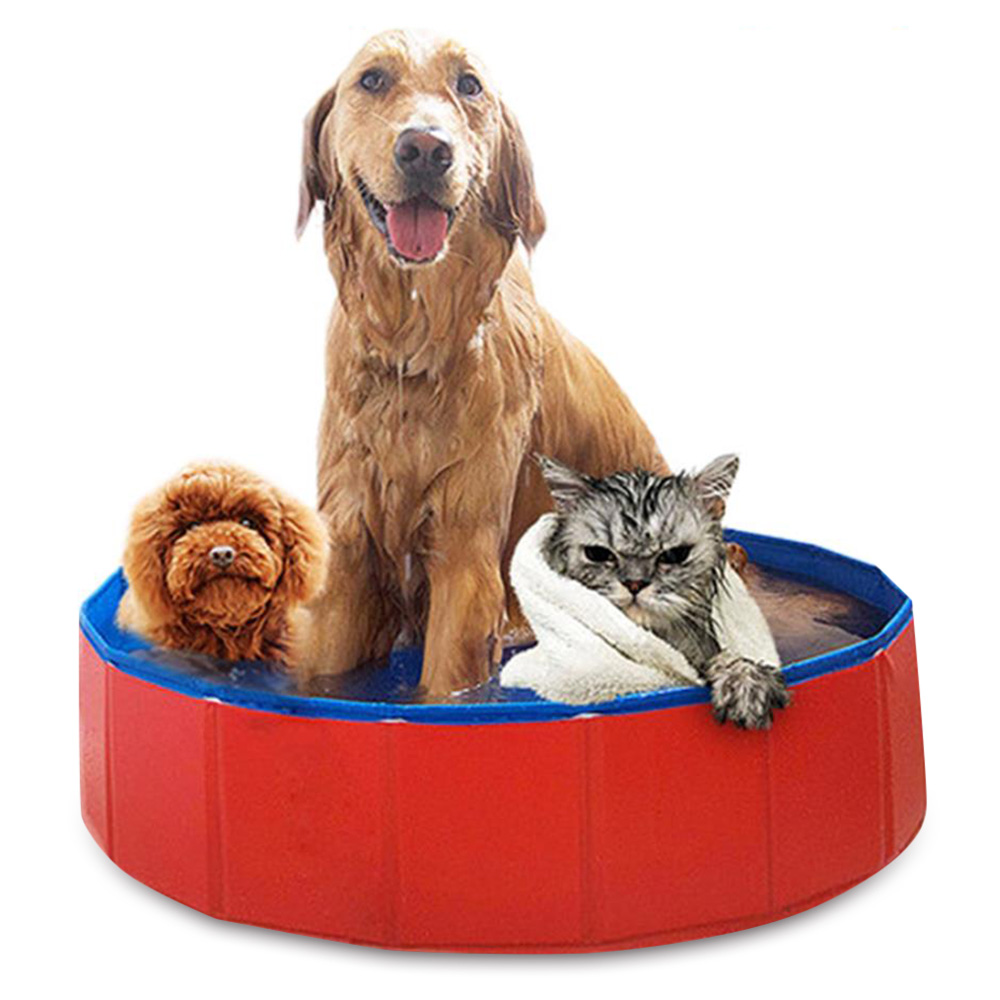 Baignoire pliante pour animaux de compagnie PVC piscine ronde taille moyenne grands chiens piscine de bain pliable animaux de compagnie piscine chats chaton rondelle