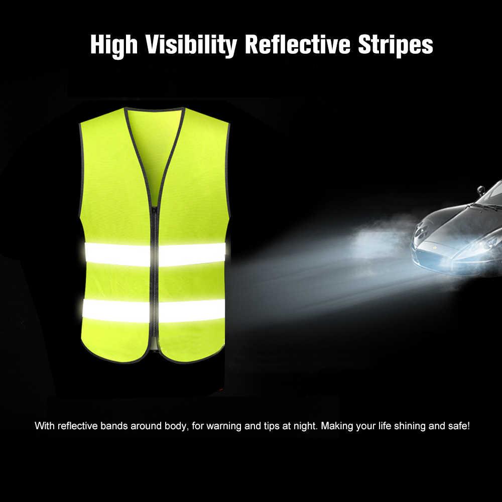 SFVest wysokiej kamizelka odblaskowa odzież robocza odzież robocza odblaskowe bezpieczeństwa odzież dzień noc motocykl jazda na rowerze