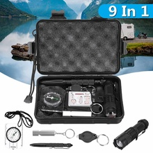 Survival Equipment Kit SOS Emergency Camping Hiking Outdoor Gear Tactical Tool Security First Aid Waterproof Shockproof Safety