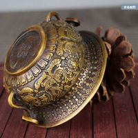 Chinese Antique Brass cornucopia Home Decoration