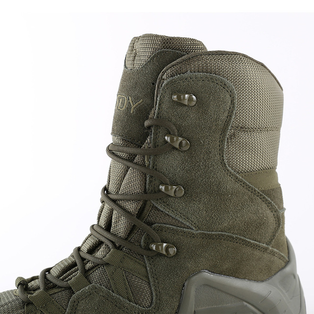 Outdoor Sports High Tops Tactical Boots Spring Autumn Men Women Military Training Climbing Camping Hunting Antiskid Hiking Shoes 5
