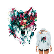 Wolf Patch Iron on Clothes Heat Transfers Clothing Print A-level Washable DIY 3d Patches Badges Sitck On For Backpack