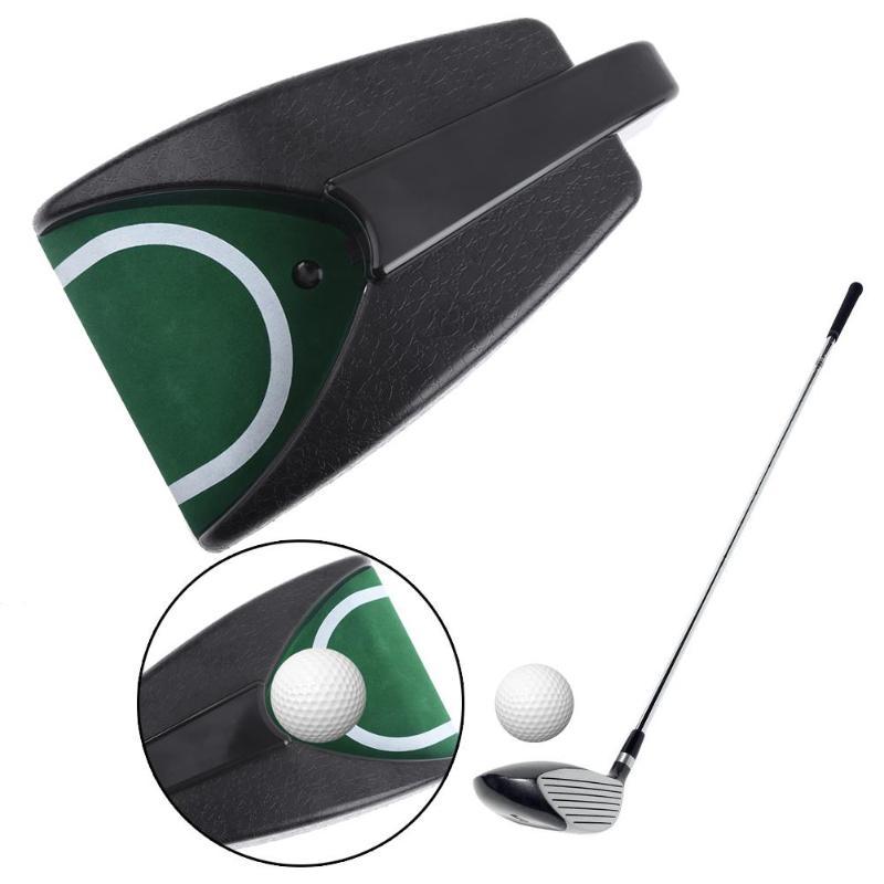 Plastic Golf Putting Mat Auto Return System Golfing Training Ball Kick Putting Mat Back Golf Practice Training Accessories