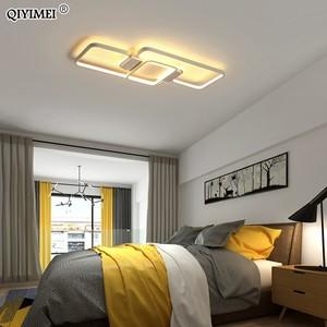 Image 3 - 디밍 LED 천장 조명 게시물 현대 스타일 거실 연구실 장식 전등 갓 천장 조명 lamparas de techo