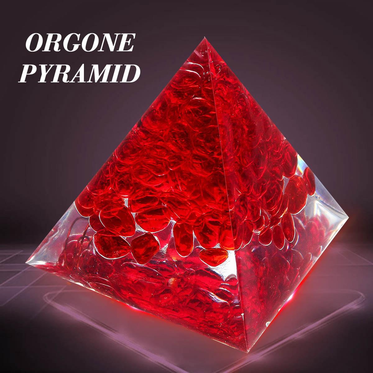 Red Jasper Pyramid Stone Orgorne Natural Gemstone Organit Quartz Crystal Energy Circle Healing Fengshui Home Decor Crafts Gift