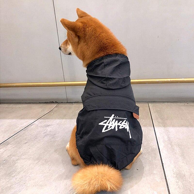 Pet Dog Sunscreen Clothes Small Dogs Raincoat For Dogs Waterproof Rain Clothing Cat Rainwear Puppy Dog Raining Jacket