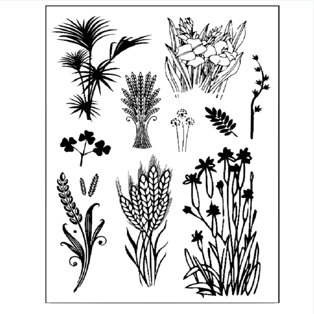 11*16cm Wheat Ears Clear Stamp Sheet Handicraft Decor
