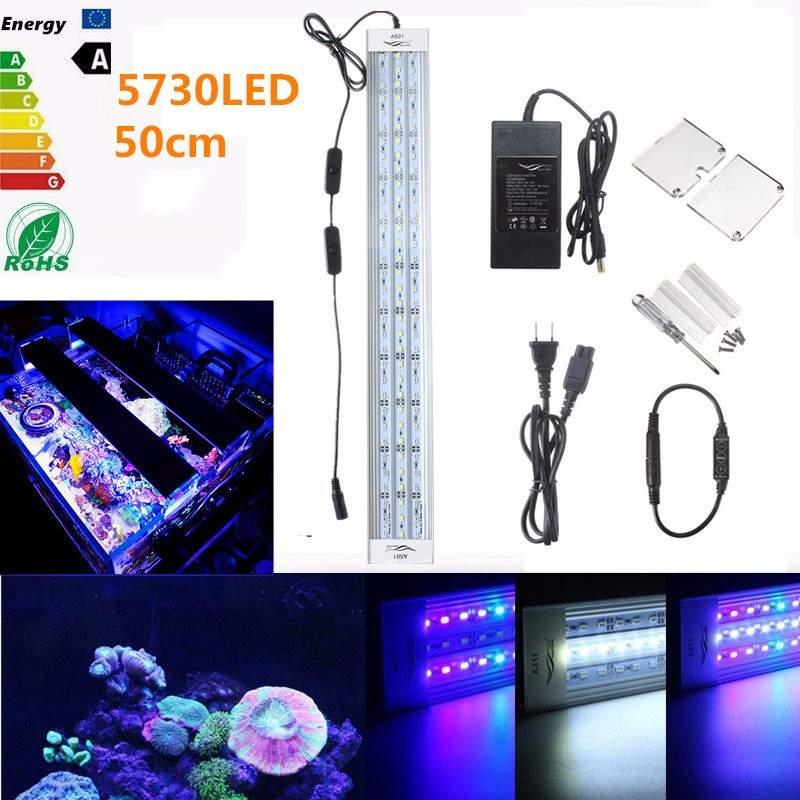 Chihiros 30 W 50 CM lumière LED d'aquarium pour 50-60 CM réservoir 54SMD 2200LM 5 couleurs LED Aquarium aquatique lampe Aquarium lampe corail