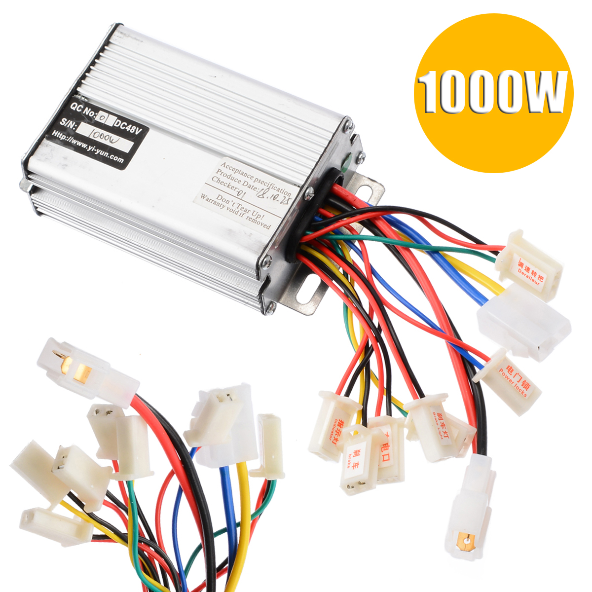 48V 1000W Brushed Controller Electric Bicycle E-bike Scooter Motor Brush Speed Controller For Vehicle Bicycle E-Bike Accessories