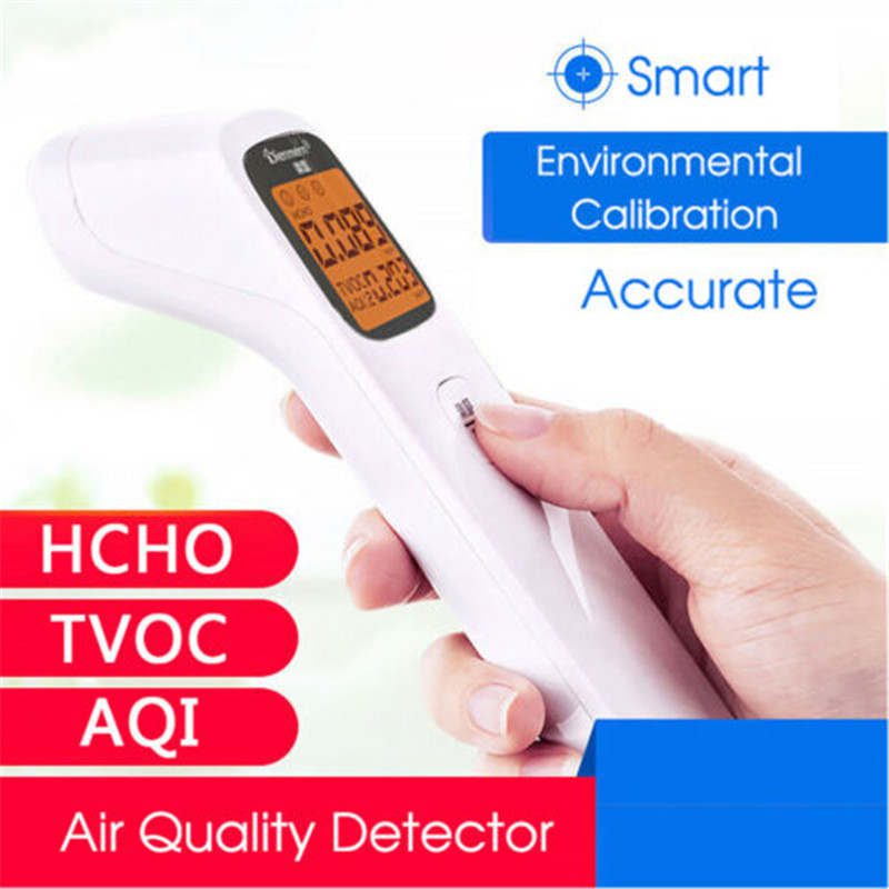 LCD Digital Air Quality Monitor PM2.5/TVOC/HCHO/CO2 Detector Gas Analyzer Tool(China)