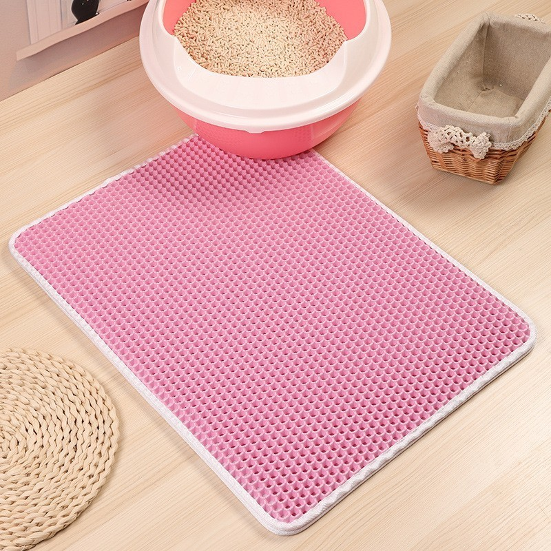 Waterproof Pet Cat Litter Mat Washable EVA Cat Sand Mat Double Layer Detachable Non toxic Cats Cushion Pet Products For Cats in Cat Grooming from Home Garden