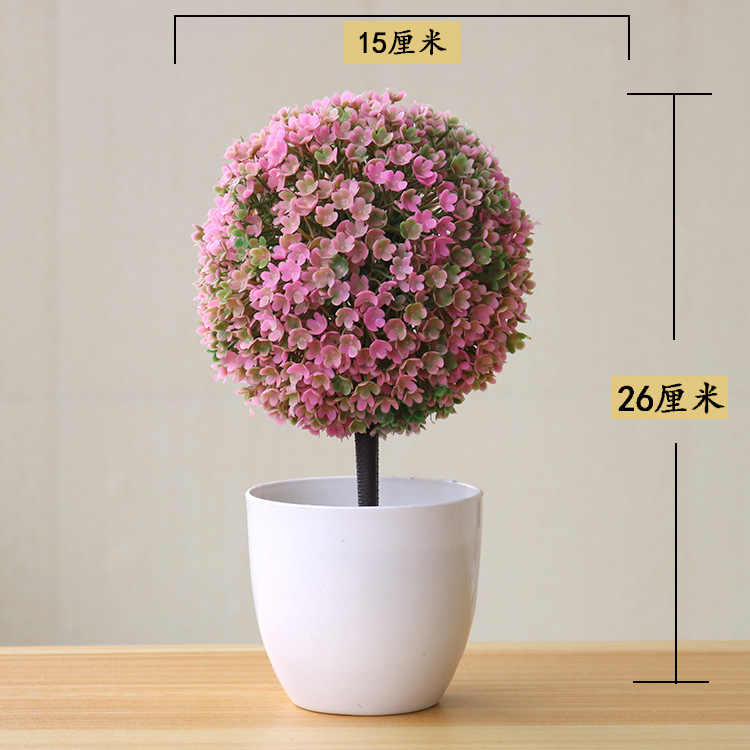 Artificial Flowers Bonsai Bright Color Lifelike Fake Artificial Plants Potted Plants Home Wedding Hotel Garden Decorations