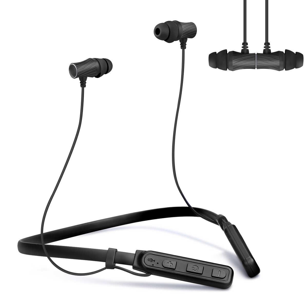 Excelvan беспроводные Bluetooth наушники беспроводные стерео наушники магнитные наушники шумоподавление с Hi-Fi стерео Встроенный микрофон