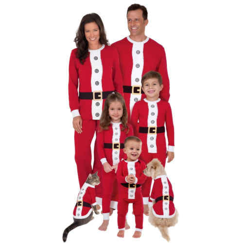 5d86035a7a UK Family Matching Christmas Santa Pyjamas PJs Sets Xmas Sleepwear Nightwear  .