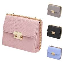 Mode Femmes PU Sac D emballage Solide Couleur Épaule Chaîne Carré Bijoux  Affichage Sac Femelle 6269f4fa44b