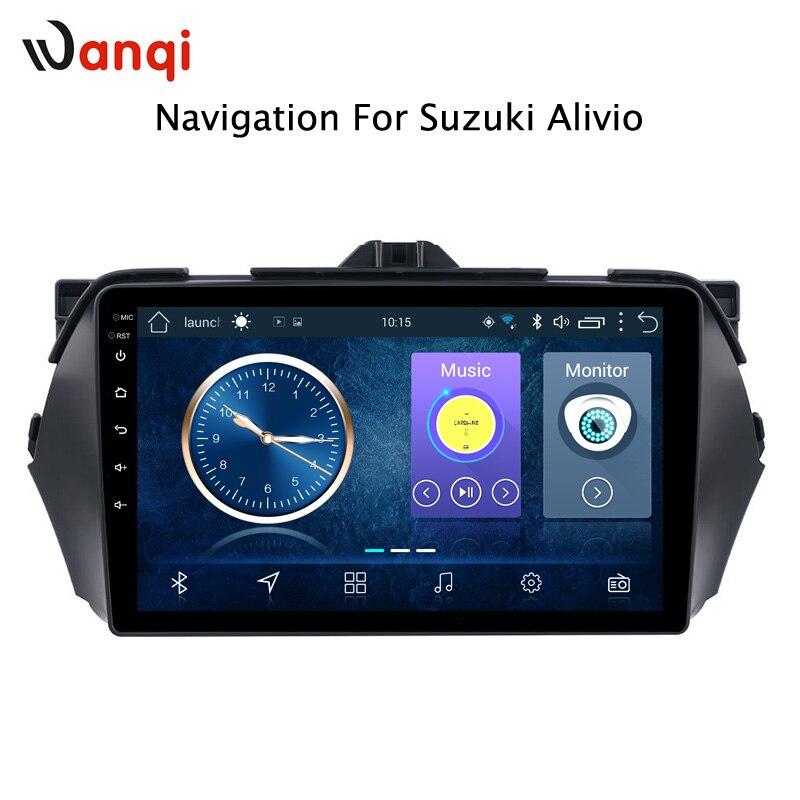 Lecteur dvd Android de voiture pour SUZUKI Alivio/CIAZ 2014-2018 lecteur multimédia de radio de navigation gps de 9 pouces