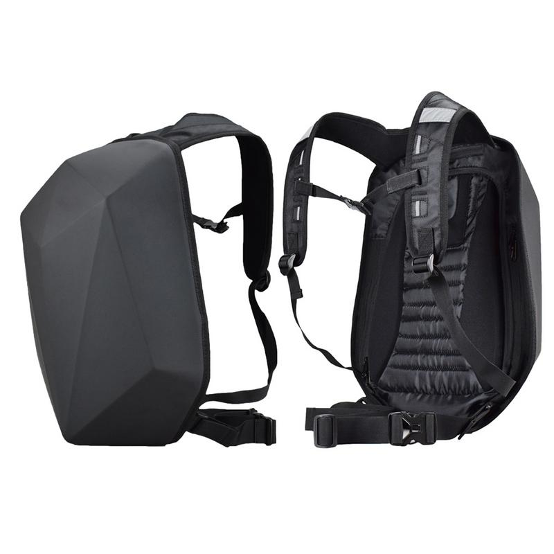 Motorcycle Backpack Waterproof Motorsports Riding Outdoor Adjustable Locomotive Shoulder Knight Travel Hard Shell Daypack