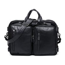 Fashion Cowhide Men Backpack Genuine Leather Vintage Daypack Travel Casual  School Book Bags Brand Male Laptop bf431d003afa5