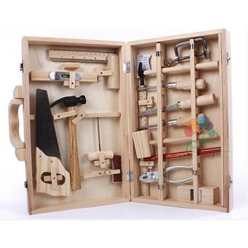 Children's Repair Toy Disassembly Multi-Functional Woodworking Box Wooden Child-Sized Tools Set Children's Education Toy