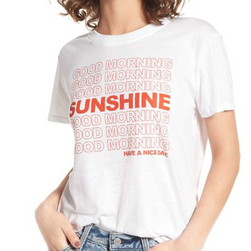 f62ba07f138a Detail Feedback Questions about Good Morning Sunshine T Shirt Women  Inspirational T shirt Workout Tee Positive Message Clothing Positivity Tshirt  Cotton ...